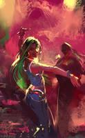Dancing girl by Pierrick