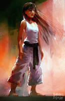 Karate Girl 2 by Pierrick