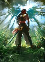 katana in Jungle