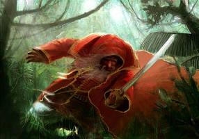 Escape in Jungle by Pierrick
