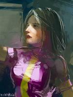 purple girl by Pierrick