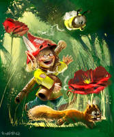 Singin'in the wood by Pierrick