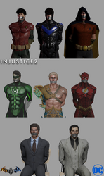 Commission: GID Picture Day - DC Guys by Ming-GID