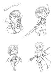 DnD Chibi Sketches by dubird