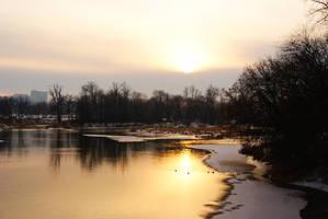 Winter Sunset by MrProsser42