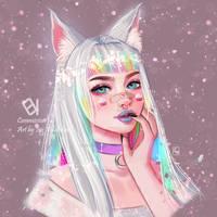 [Commission] Kitsune [Isis] by EvokStudios
