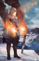 [Commission] Fire [Akie] by EvokStudios