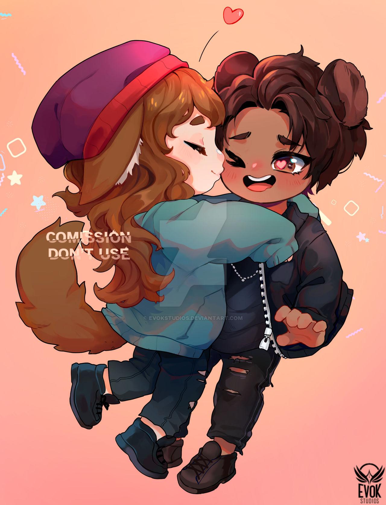 _commission__chibi_kiss__evokstudios__by