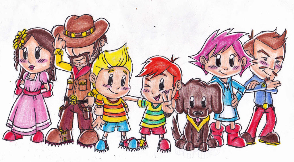 Mother 3 characters by FoxiFyer on DeviantArt