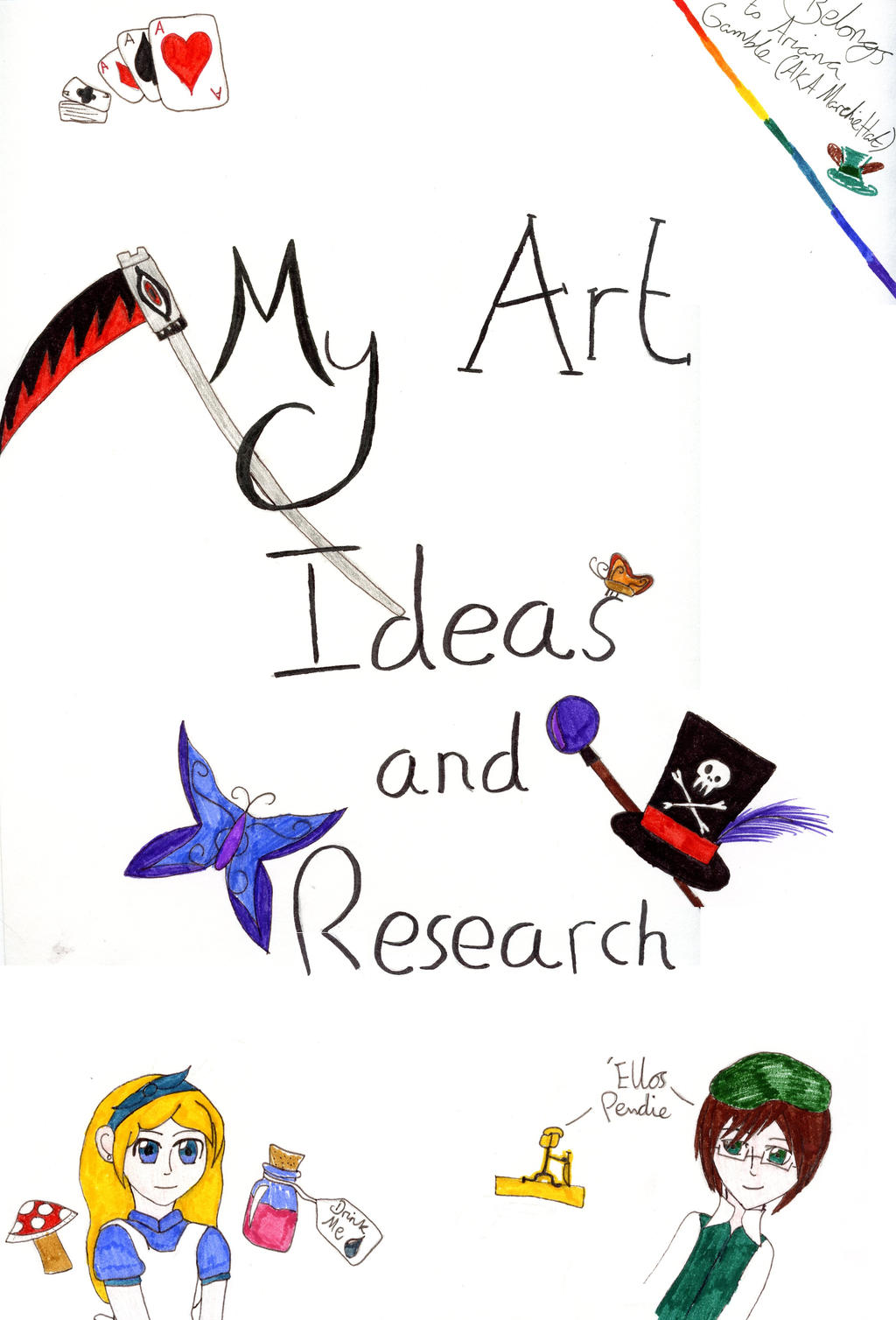 My Art Book Cover : My art book inside cover by marchiehat on deviantart