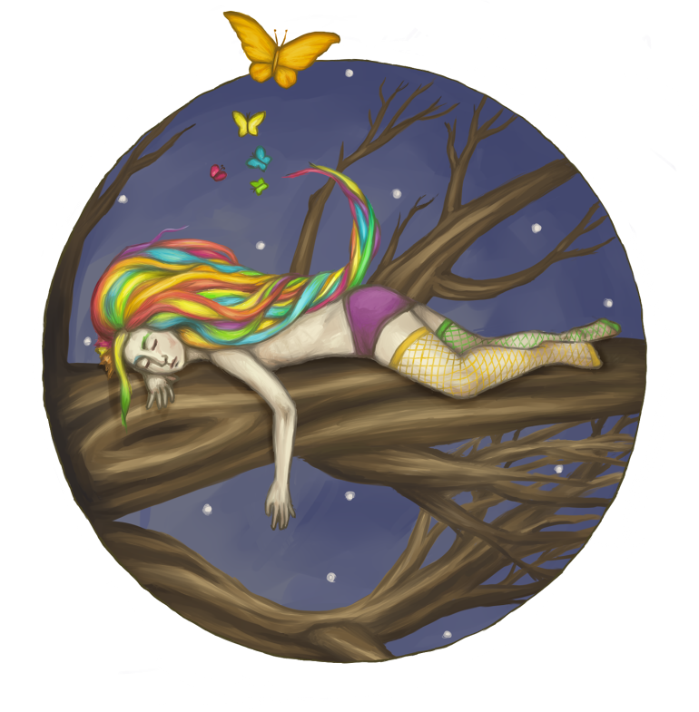 Sleeps with butterflies. by fieldmouse