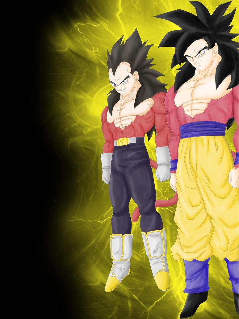 Vegeta And Goku SSJ4 By Dara333