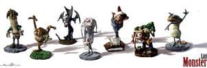 Full Family of Little Monsters by mtingstrom