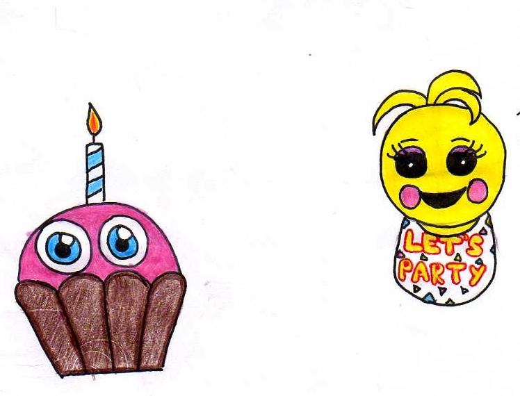 Toy chica and cupcake by ludwigvonkoopalover on deviantart