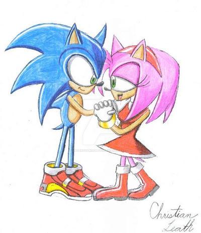 Sonic and Amy by LazerGyakusatsu