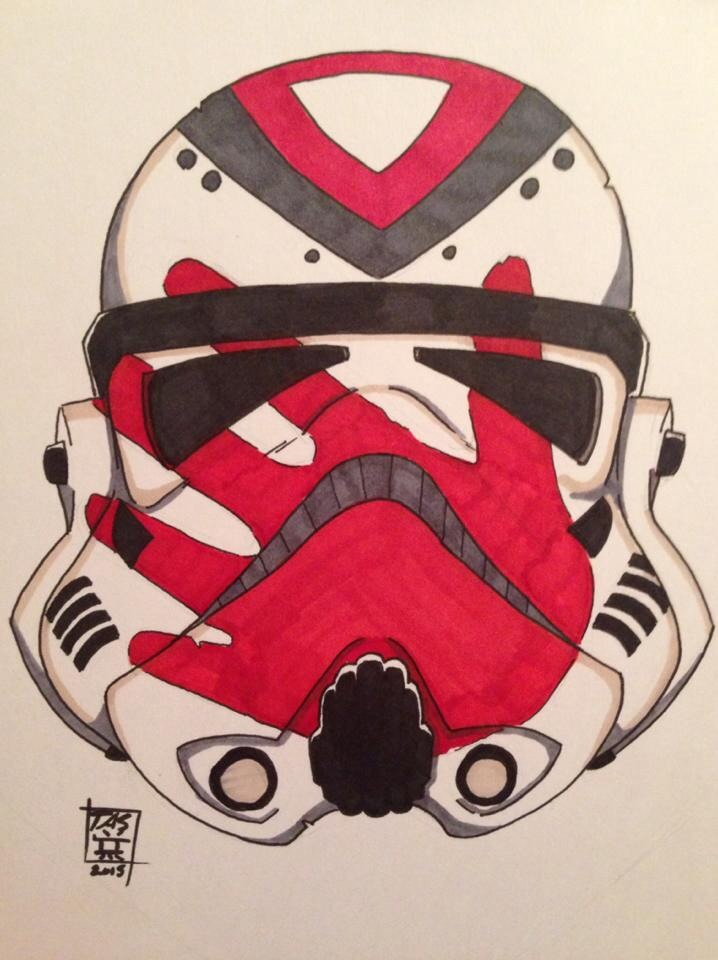 Commission: Stormtrooper Tattoo Design by SenjiMakoto