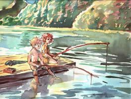 Fishin' Hobbits by play-it-snufkin