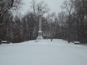 Snow capped monuments
