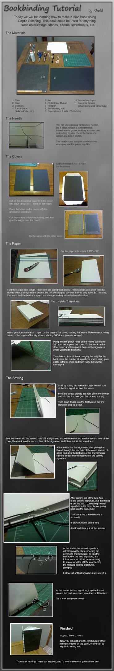 Bookbinding Tutorial by LightAesthetic