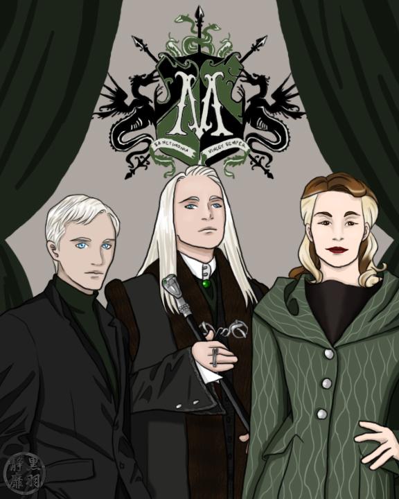 Malfoy Family Portait by KurohaneShizumi