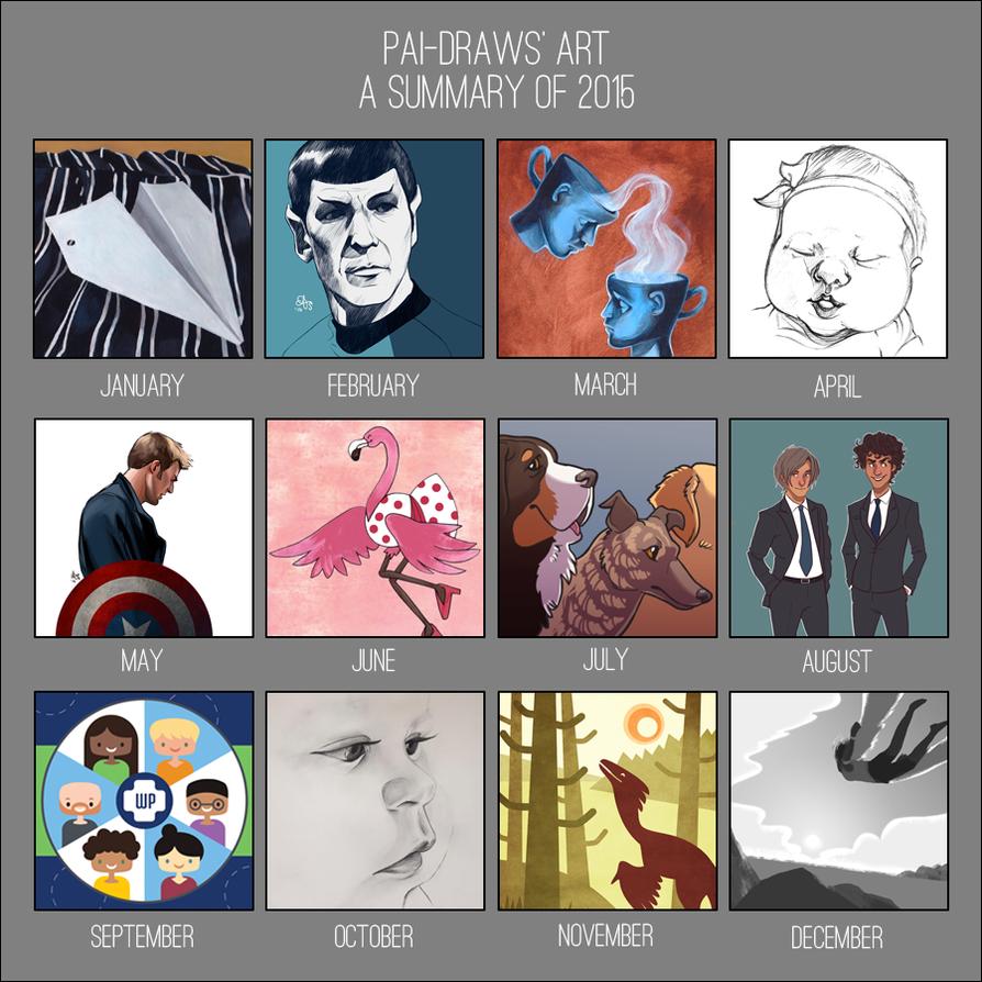 2015 Art Summary by pai-draws