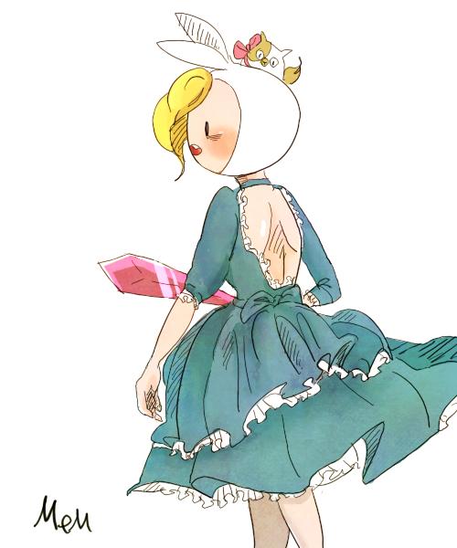 Fionna in dress by memmemn