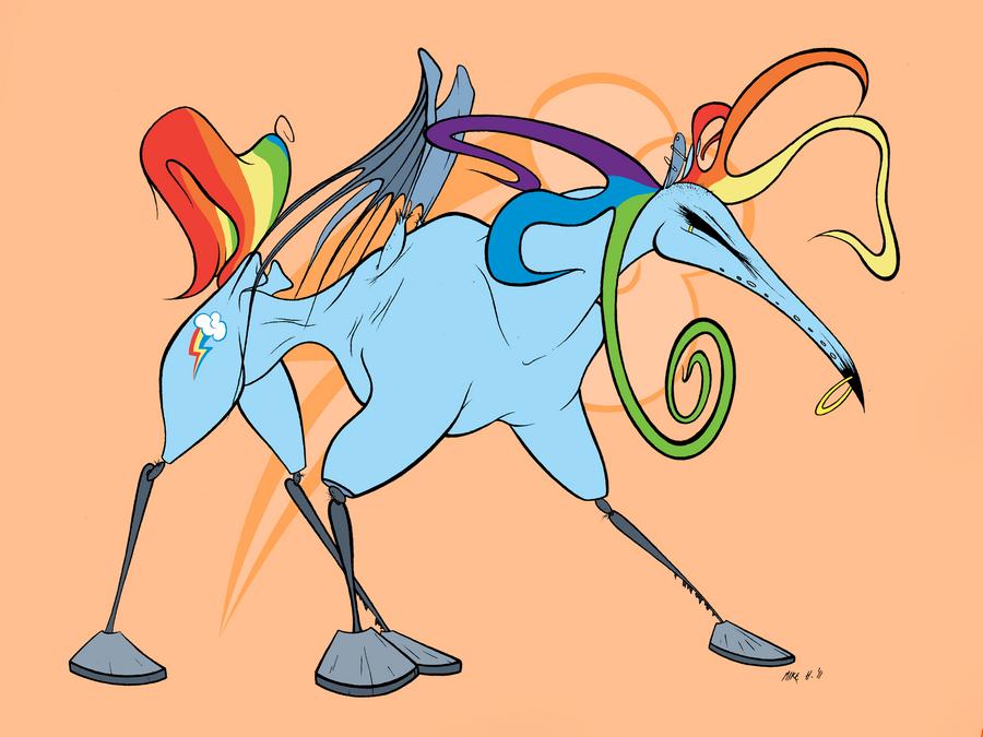 Rainbow Dash by Mustard-Halibut