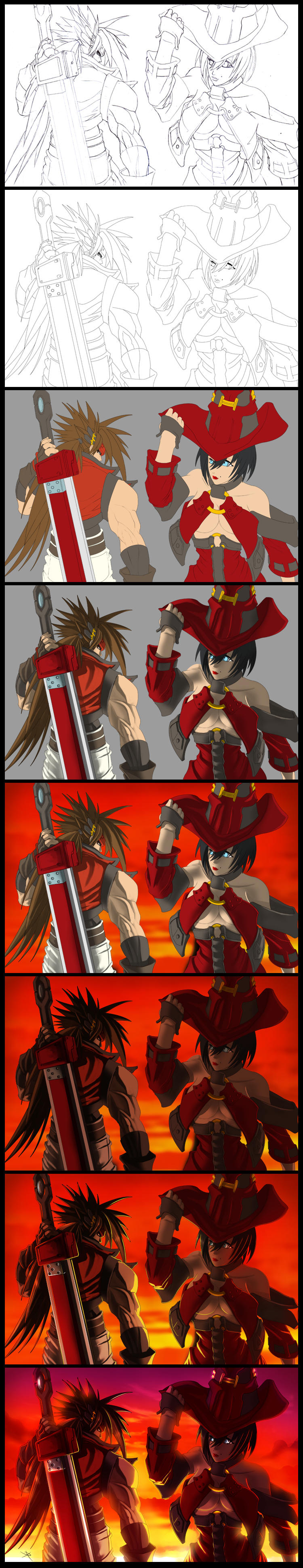 Guilty Gear Sunset Process by digitalninja