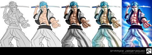 Tutorial - Color Process - Grimmjow by digitalninja