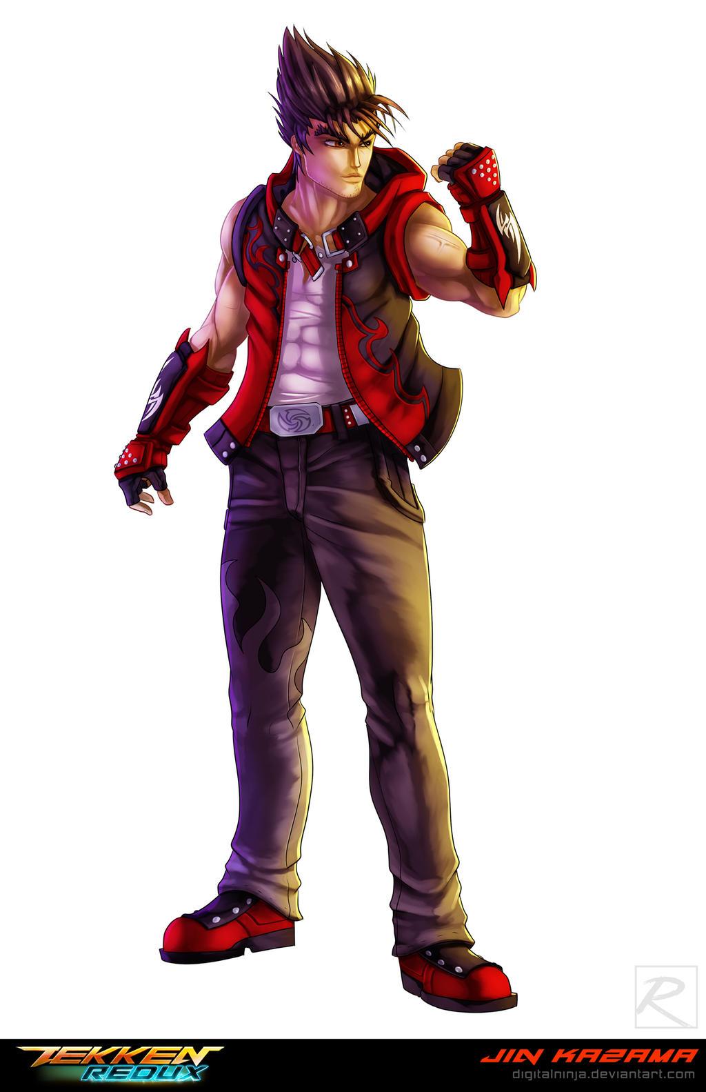 Tekken Redux Jin Kazama By Digitalninja On Deviantart