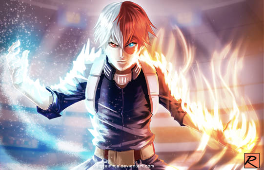 Todoroki - My Hero Academia by digitalninja