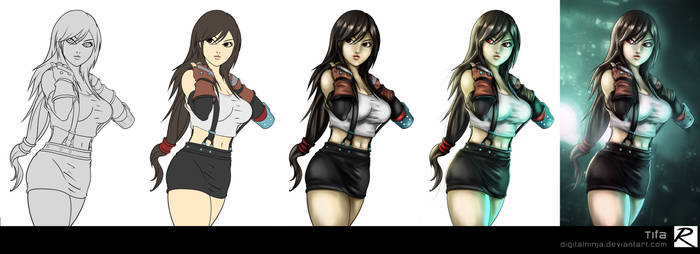 Tutorial - Color Process - Tifa by digitalninja