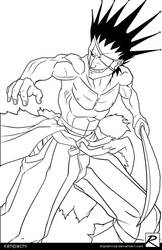 Line Art - Kenpachi by digitalninja