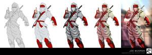 Tutorial - Color Process - Shinobi - Joe Musashi