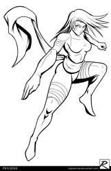 Line Art - Psylocke