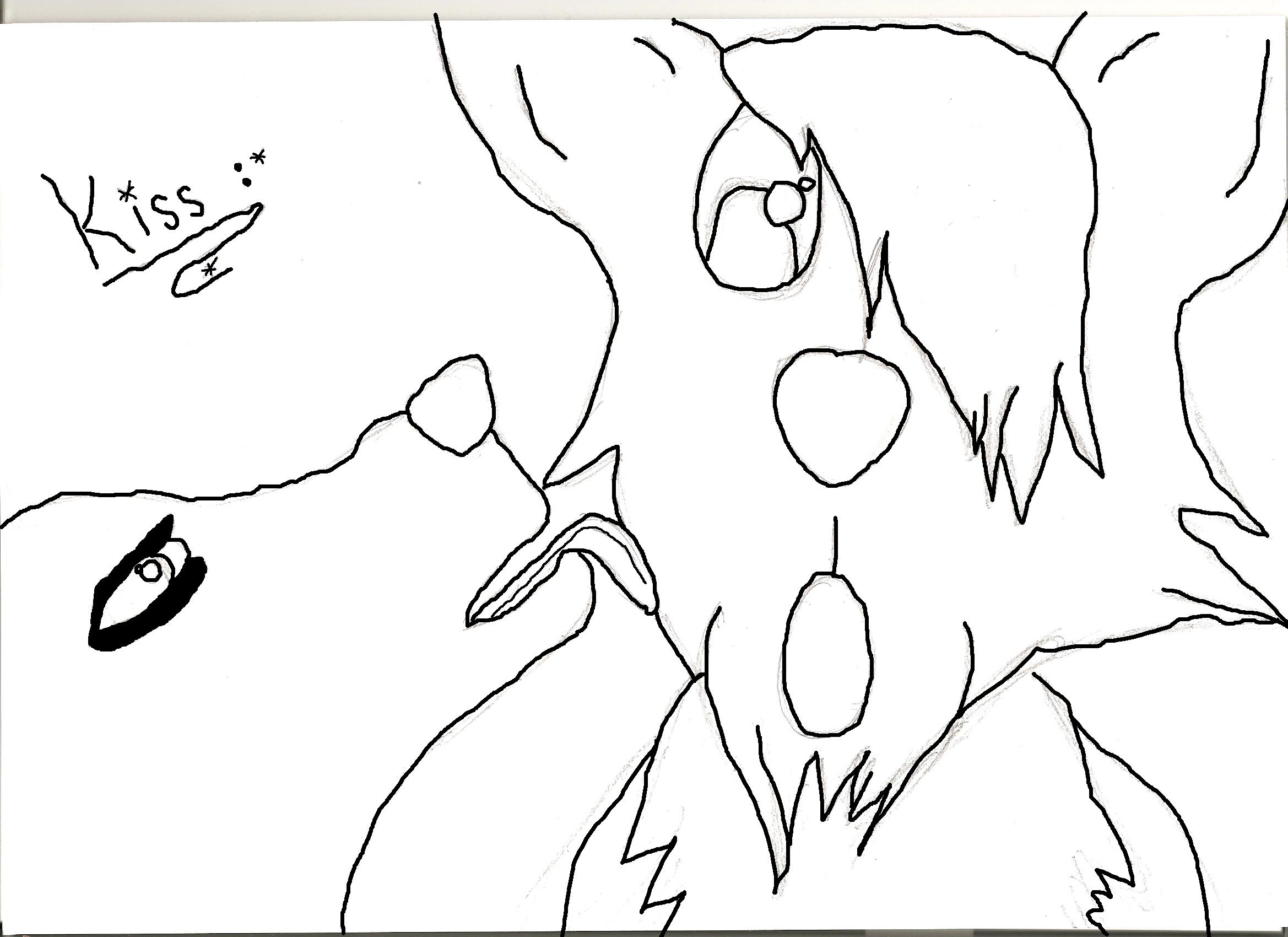 Line Drawing Kiss : Free lineart wolf kiss by mani on deviantart