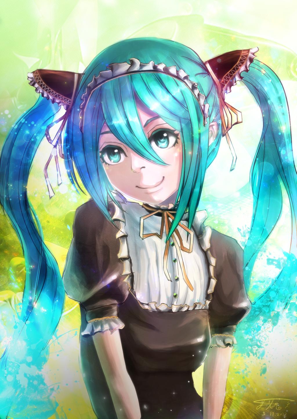 Maid Miku by Cabulb
