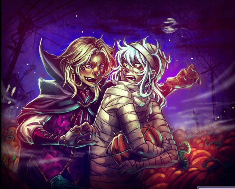 Halloween trade by thooruchan