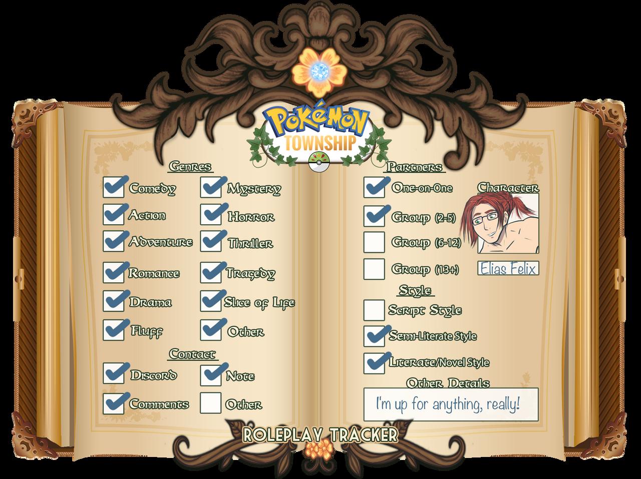 Discord Tracker pts: elias felix || roleplay trackersushisheik on deviantart