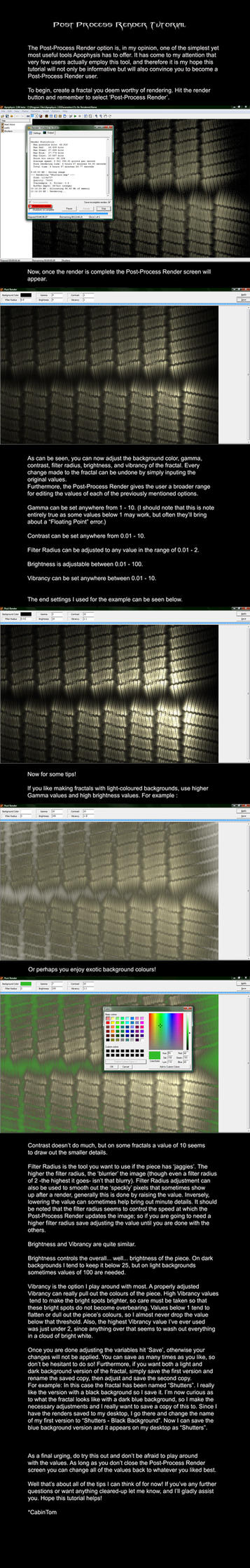 Post-Process Render Tutorial by CabinTom