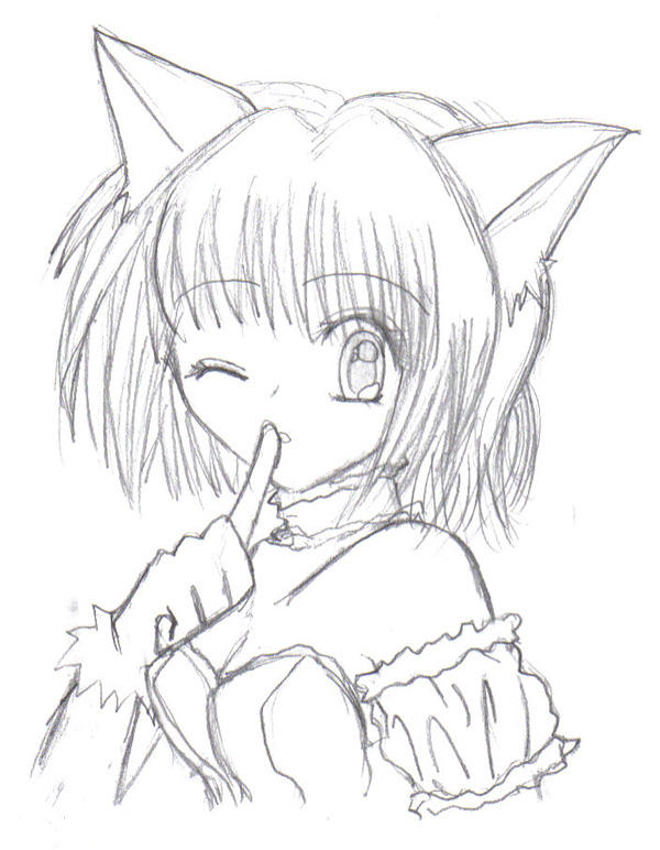 Ichigo from tokyo mew mew by kyuuketsuki kitsune on deviantart for Kitsune coloring pages