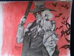 HELLSING Alucard and Victoria Fan Art by MissNunny