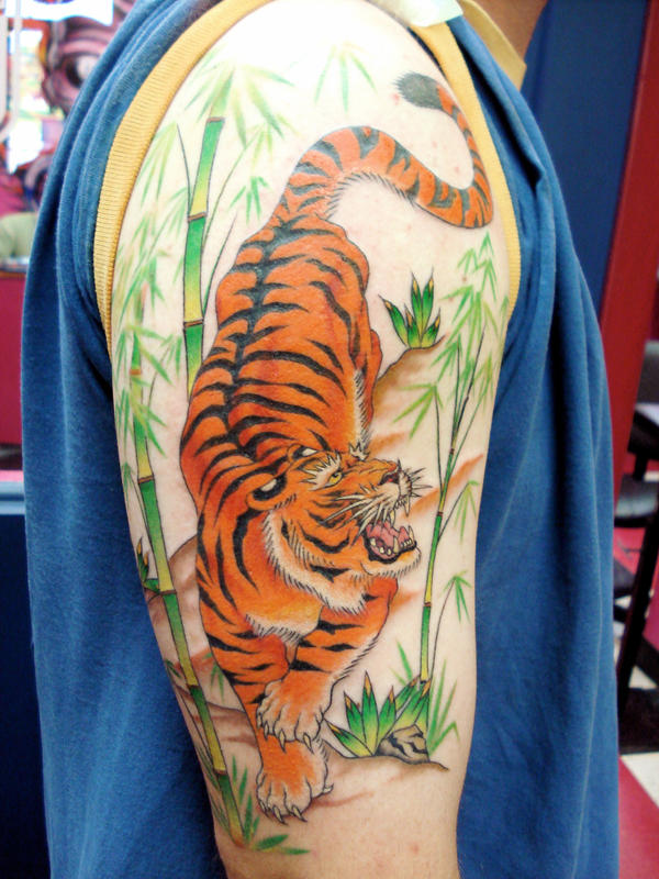 Tiger In Bamboo Tattoo Related Keywords Suggestions Tiger In