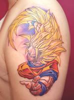 Goku Tattoo by NelsonMandingo