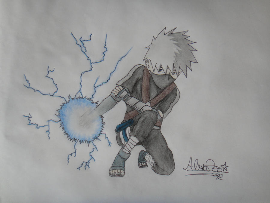 Kakashi young chidori by OnePiecerin on DeviantArt