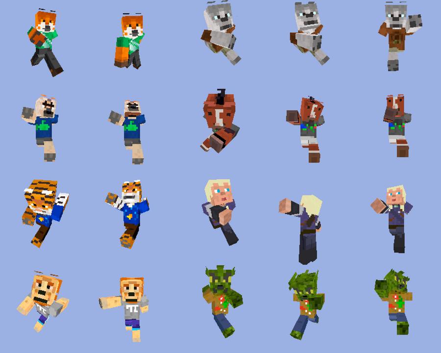 Minecraft Skins Pack By Rooster On DeviantArt - Skins para minecraft 1 8 8