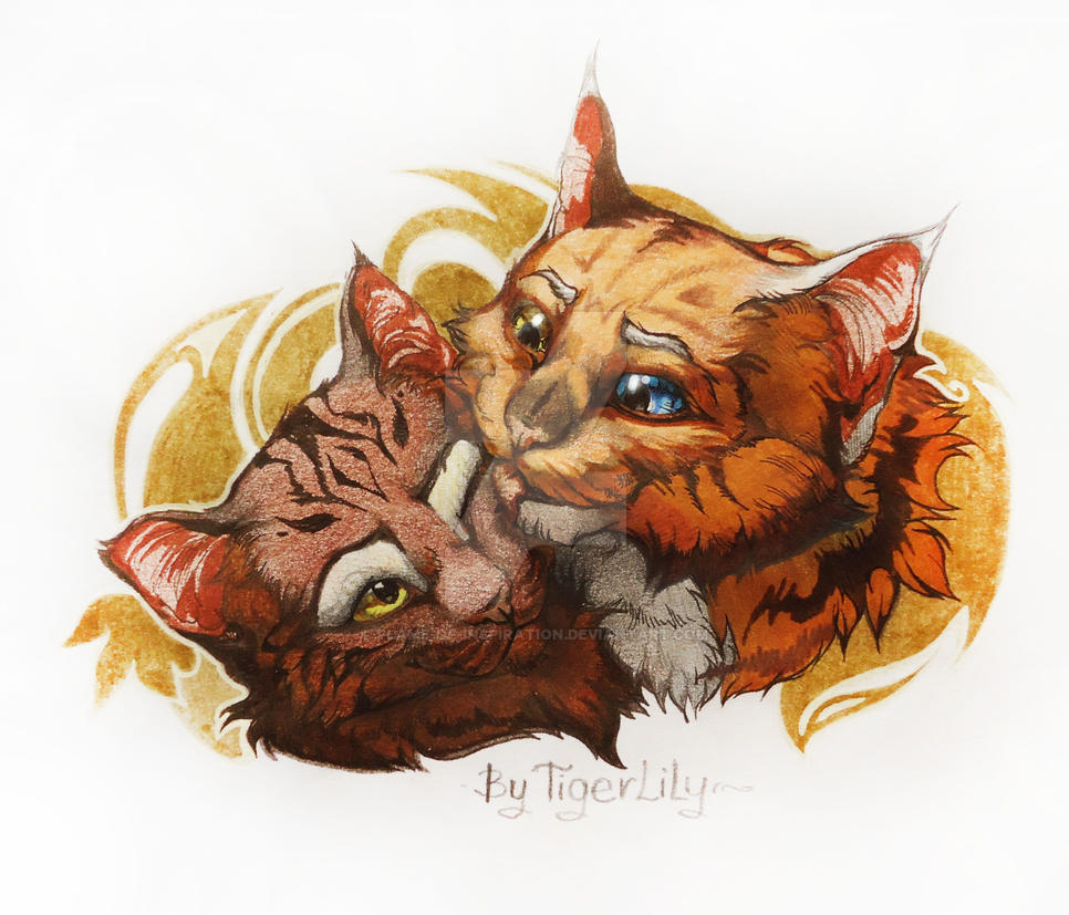 Tigerlily and Leaf-Alder ^3^ (comission) by Flame-of-inspiration