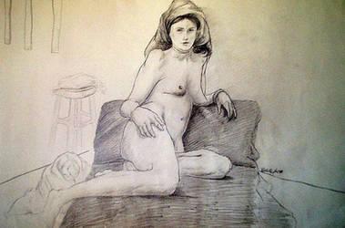 Sketchbook, life drawing VIII