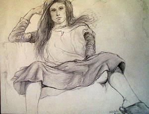 Sketchbook, life drawing IX