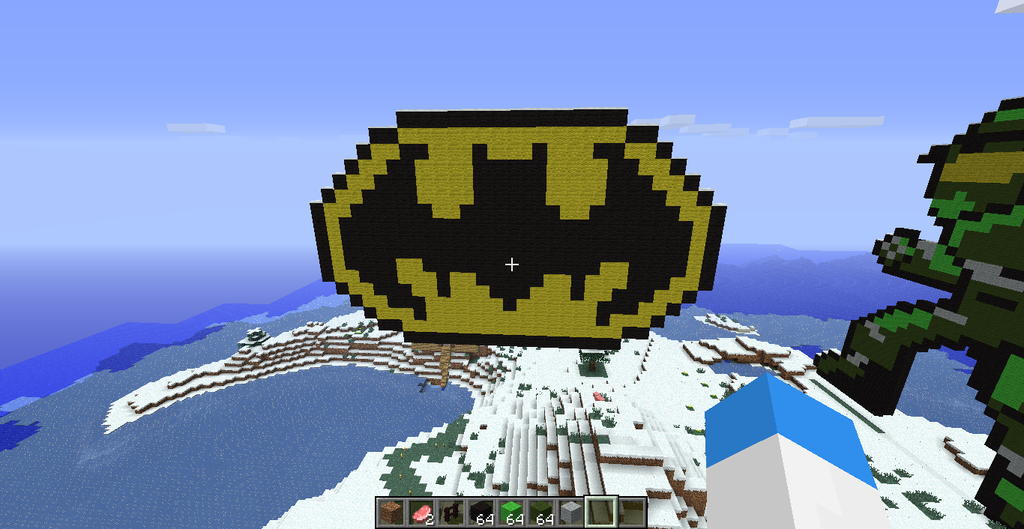 Minecraft Bat Symbol By Blackeyedalpha On Deviantart
